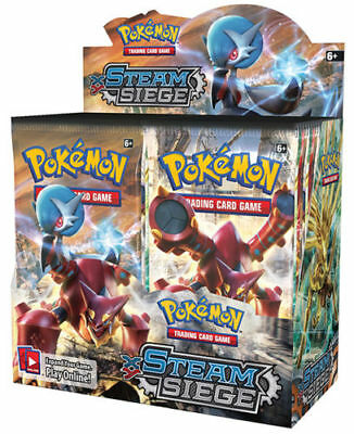 Pokemon Cards XY Steam Siege 6 Booster Pack Lot 1/6 Booster Box TCG Card Game