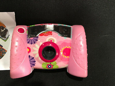 Fisher Price Pink Floral Kid Tough Digital Camera Tested and Working