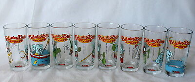 COMPLETE SET of 8!! Nutella BLINKY BILL SPORTS Collector Glasses