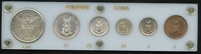 6 Coin United States Philippine Type Set - 1908 & 1944 - Includes Silver!