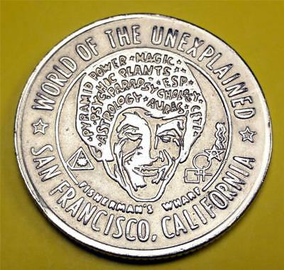 SAN FRANCISCO CA. Good Luck Token FISHERMAN'S WHARF Astrology/Magic 28mm WG0379