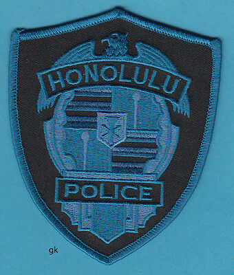 HONOLULU HAWAII  POLICE SUBDUED  SHOULDER PATCH  (blue)