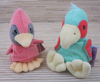 "Lot of (2) Precious Moments Tender Tails ""Bird"" Bean Bag Plush *New"