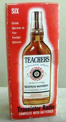 Teachers Whisky Transistor Radio *In Original Box with Booklet (Collectable)