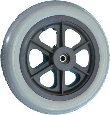 Solid Wheelchair Tyre & Wheel with Bearing, 12.5 x 2.25 - FREE FREIGHT