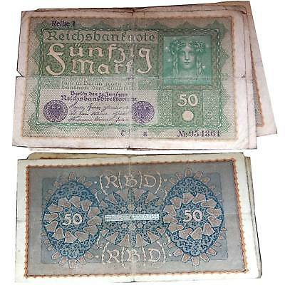 50 Mark 1919 Condition 4 VG/G Strong Used / 436078 ##
