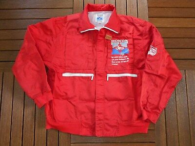* Vintage '80S Jt Jt Racing Jacket Honda Official By Rs Taichi Motocross *