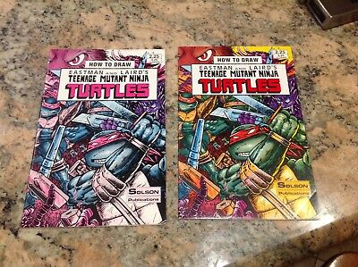 SIGNED EASTMAN & LAIRD -How to Draw TMNT + Error Variant