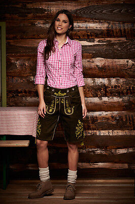 Ladies Traditional Costume Blouse Checked from James + Nicholson Xs S M L XL 2XL