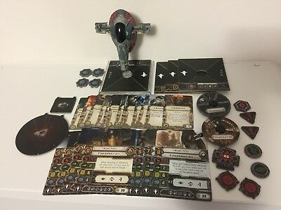 X-Wing Miniatures Slave 1 Expansion - Imperial & Scum Used FFG Star Wars