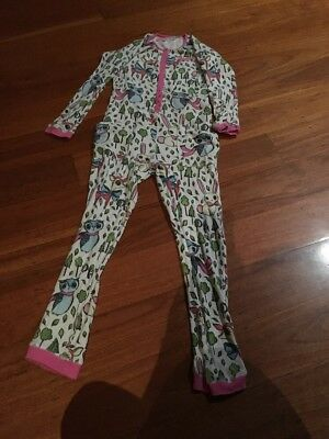 Peter Alexander Girls One Piece Waffle Knit Pyjamas Sz12 Animal/woodland Design