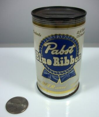 "Pabst Blue Ribbon Beer 3.5"" Tin Coin Bank - Circa 1950s-60s"