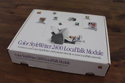 Apple Color StyleWriter 2400 LocalTalk Module Complete in Box CIB Rare Vintage