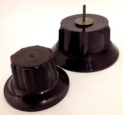Two antique bakelite stands for figurines, vases, bowls, simichrome tested