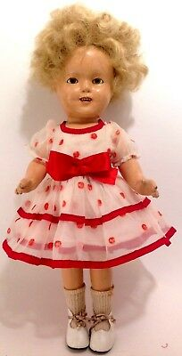 Vintage original 1930's Ideal Shirley Temple composition doll no.13