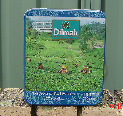 Dilmah Tea Tin The Story of Tea Part One Nice Looking Empty Tin Sold as Per Scan