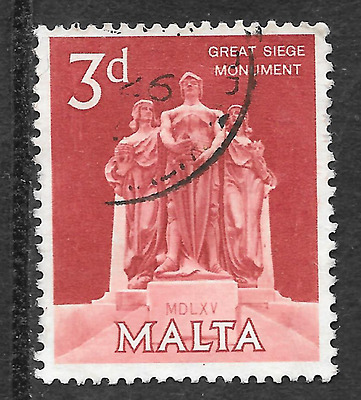 Malta 3d stamp commemorates the great siege monument - see scan