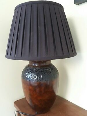 Brown lamp retro style