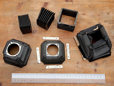 Vintage camera / enlarger bellows, mostly good (all look light tight)