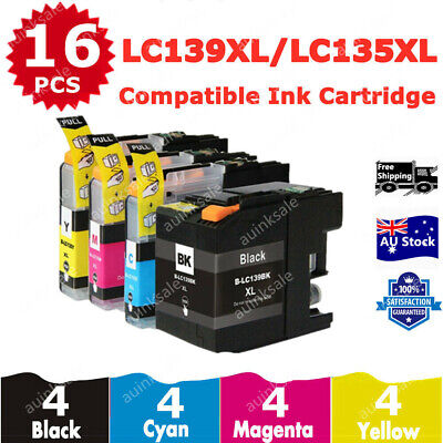 16 Ink Cartridges LC139XL LC139 LC135 XL For Brother MFC J6520DW J6720DW J6920DW