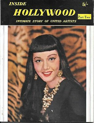 Vintage inside Hollywood film magazine late 1940's/ early 1950's Groucho Marx