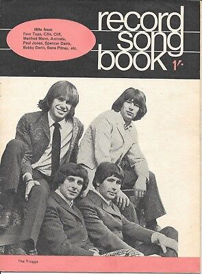 Vintage Record Songbook lyric paper The Troggs mid 1960's
