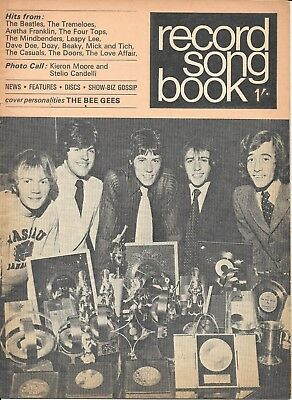 Vintage Record Songbook lyric paper The Bee Gees late 1960's Beatles