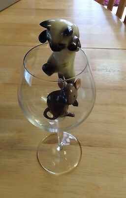 Beswick Climbing Cat and Mouse Set with large Goblet.