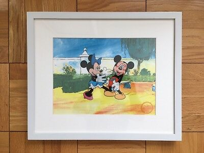 Disney Limited Edition Mickey Surprise Party Framed Sericel COA Cel Minnie Mouse