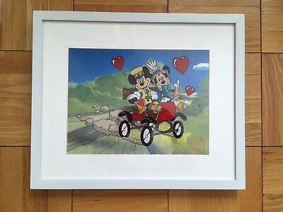 Disney Limited Edition Nifty Nineties Framed Sericel COA Cel Mickey Mouse Minnie