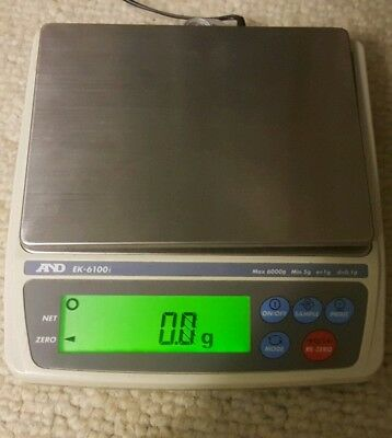A&D Weighing EK-610I Digital Scale Max 6000g. Gold weighing jewellery