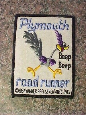 Plymouth Road runner Patch Embroidered , Vintage Rare Beep Beep NOS