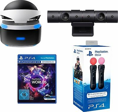 PlayStation VR Brille + VR Worlds + PS4 Kamera + Move Twin PackSony PlayStation