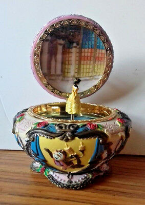 RARE Officical Disney Beauty and the Beast Music Box / Jewellery Box