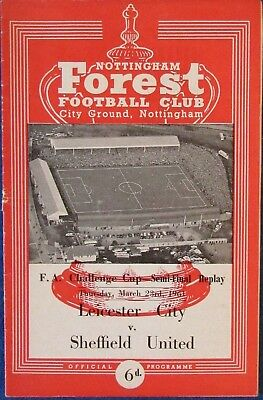1960-61 LEICESTER CITY v SHEFFIELD UNITED - FA Cup Semi-Final Replay at Forest