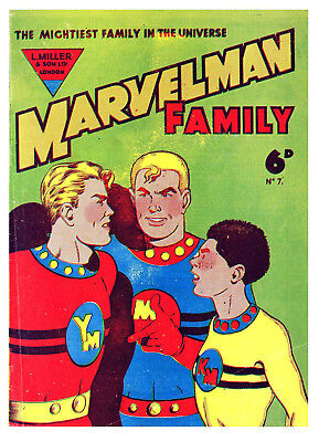 MARVELMAN FAMILY No.7  - BRITISH 6d .  -   Facsimile Comic