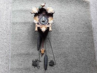Vintage Black Forest West Germany  Cuckoo Clock  A/f