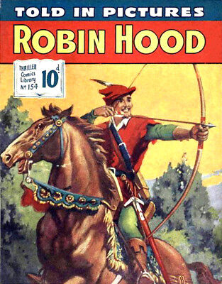 THRILLER PICTURE LIBRARY No.154 - ROBIN HOOD -  Facsimile