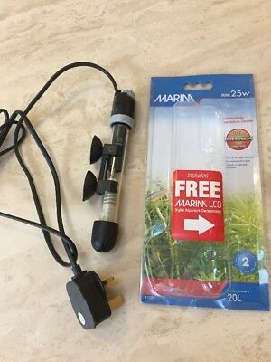 Marina Submersible Aquarium Heater Fish Tank Mini 25w