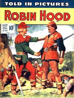 THRILLER PICTURE LIBRARY No.162 - ROBIN HOOD -  Facsimile