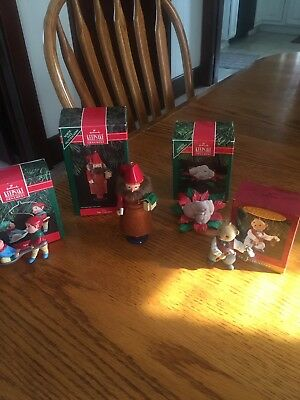 Hallmark Keepsake Ornament  Lot of Four