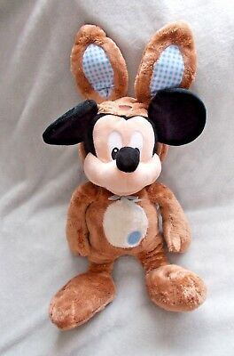 "RARE Disney Store Easter Bunny Mickey Mouse Soft Toy / Plush / Teddy - 14"" Tall"