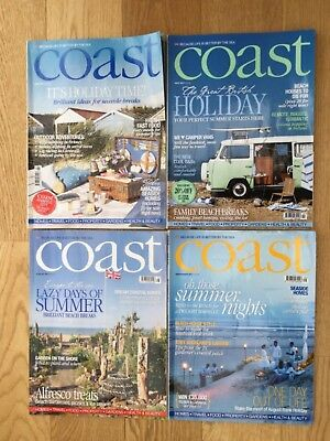 Four issues of Coast magazine June to September 2011