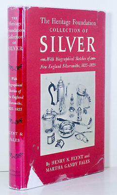 AMERICAN SILVER Early New England Silversmiths 1625-1825 Marks History Book HC