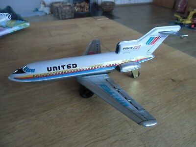 Boeing 727 - United, Blechspielzeug Made in Japan OVP