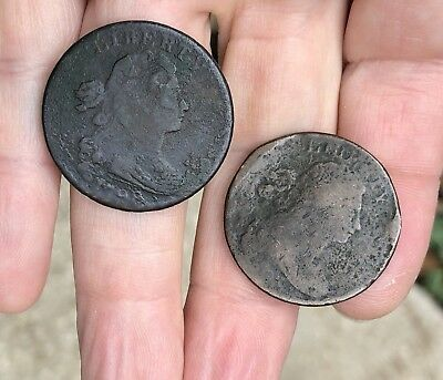 Rare 1798 US 1 Cent Penny Coin Currency + A Bonus Coin