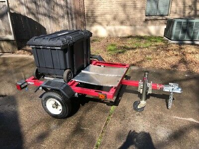 Custom Track Tire Trailer with Toolbox + Accessories (Harbor Freight)