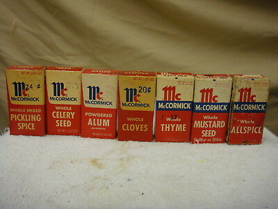 McCormick spices 7  unopened boxes