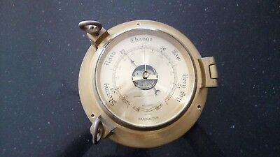 "Harwich Clock Co. Maritime Barometer 8.5"" Solid Brass"