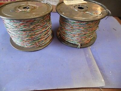 Vintage western electric F- Cross Telephone Wire Cable 3 Pair,24 AWG P-46F836.